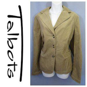Talbots Tan Corduroy Suit Jacket Blazer Sz 16 XL